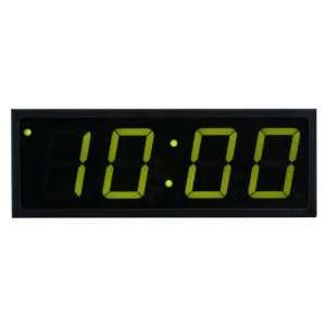 Time Machines Precision Digital POE Clock 4 x 4 Green Digits, Black