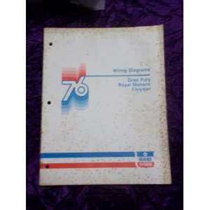 Dodge 1976 Wiring Diagrams OEM Service Manual Dodge 1976