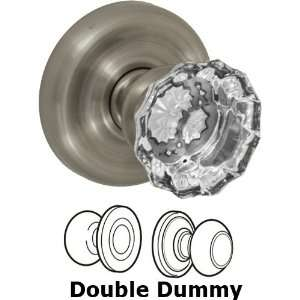 Double dummy scalloped clear glass knob with contoured