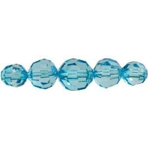 Cousin Jewelry Basics 37 Piece Acrylic Aqua Facet Round