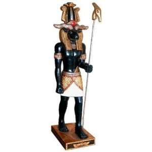 Egyptian Statue Khnum Ram Indoor Sculpture Figurine Home & Kitchen