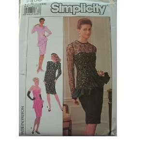 MISSES MISS PETITE FORMAL WEAR DRESS SIZE 14 16 18 SIMPLICITY PATTERN
