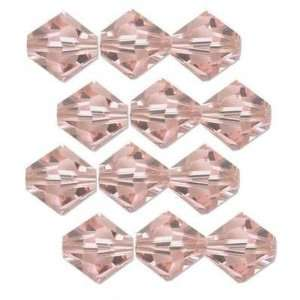 12 Vintage Rose Swarovski Crystal Bicone Beads 5301 6mm