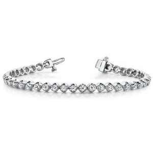 14k White Gold Diamond Tennis Bracelet   JewelryWeb