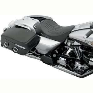 BKRider Flame Stitch Solo Front Seat for Harley Davidson