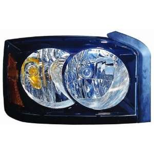 Dakota Replacement Headlight Assembly (Black Bezel)   Passenger Side