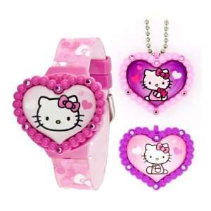 Hello Kitty LCD Watch With Interchangeable Necklace and