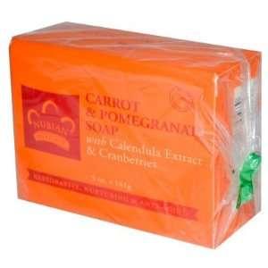 Nubian Heritage  Carrot & Pomegranate Soap, 5oz, 141 grams