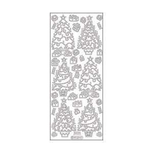 Elizabeth Craft Designs Decorated Christmas Trees Peel Off