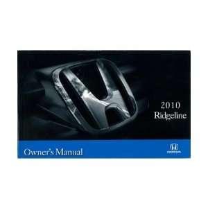 2010 HONDA RIDGELINE Owners Manual User Guide Automotive