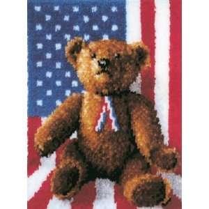 Latch Hook Kit 20 Inch x27 Inch  All American Teddy Arts