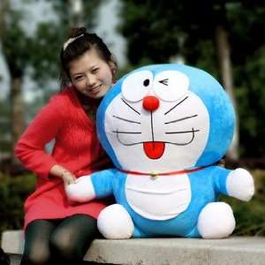 Big! Cute! Official Good Large Doraemon Plush Doll Toy 25H: Toys