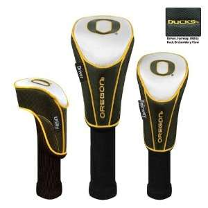 Oregon Ducks 3pc Golf Club/Wood Head Cover Set