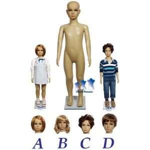 Child Mannequin, Fleshtone Plastic
