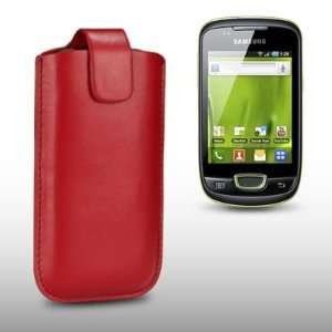 SAMSUNG GALAXY MINI S5570 RED PU LEATHER CASE, BY CELLAPOD