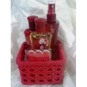 Bath & Body Works Japanese Cherry Blossom Gift Basket~3oz