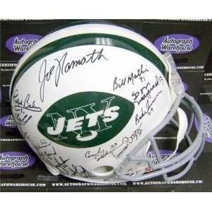 1968 1969 New York Jets Team Autographed/Hand Signed Football Helmet