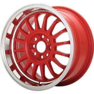 Konig Retrack Red Wheel with Machined Lip (15x7/4x100mm
