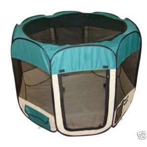 Large Teal Pet Tent Exercise Pen