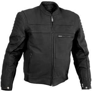 River Road Vise Leather Jacket Black