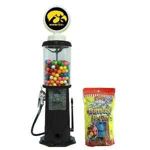Iowa Hawkeyes Black Retro Gas Pump Gumball Machine   NCAA