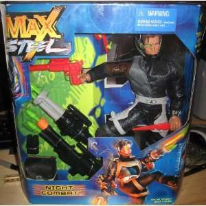 Max Steel   12 Night Combat Figure & 9 Accessories Toys
