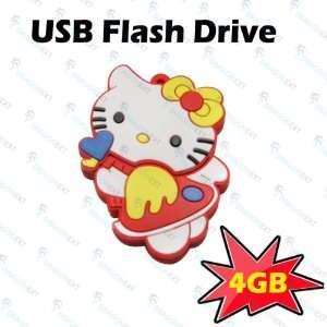 Hello Kitty Cat Cartoon 4GB USB Drive Flash Memory Stick Electronics