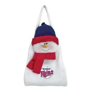 Pack of 2 MLB Minnesota Twins Plush Snowman Hanging Door Christmas