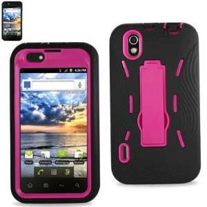 LG Marquee/Ignite/LS855 Black/Hot Pink Combo Silicone Case