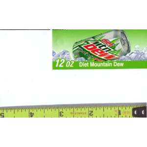 Mountain Dew Can on Ice Soda Vending Machine Flavor Strip, Label Card