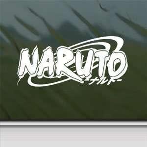 Naruto White Sticker Window Vinyl Laptop White Decal Arts