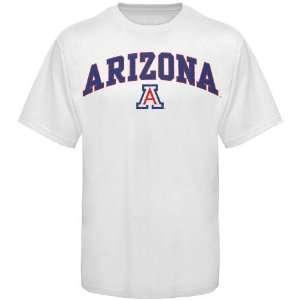 NCAA Arizona Wildcats White Arch Logo T shirt Sports