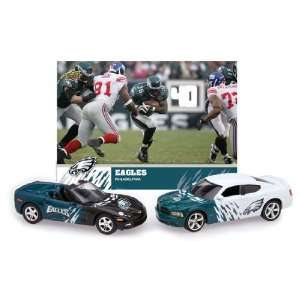Chevrolet Corvette with Team Card   Philadelphia Eagles Diecast NFL