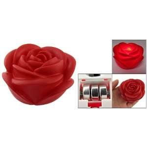 Decor Red Colored LED Light Rose Flower Night Lamp