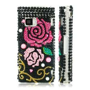 NEW PINK & RED ROSES 3D CRYSTAL BLING CASE FOR NOKIA X6 Electronics