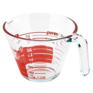 Pyrex Prepware 2 Cup Measuring Cup, Clear with Red Measurements Pyrex