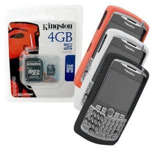 Orange, White, Black Skin Cover Case and Kingston 4GB