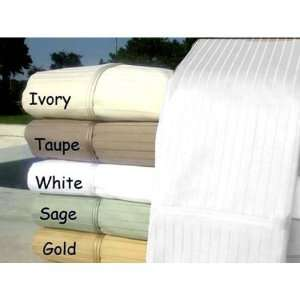 800TC Egyptian Cotton QUEEN WHITE PIN STRIPE SHEET SET BY