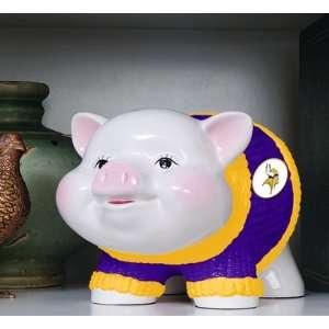 NFL Minnesota Vikings Football Ceramic Piggy Bank