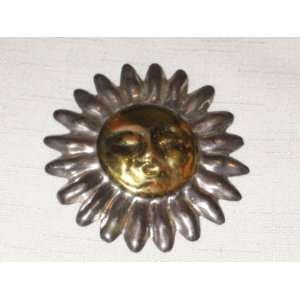 Sterling Silver 925  Sun Face  3 Inch Brooch Pin   170 Grams   1 01