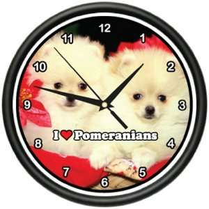 Wall Clock pomeranians dog pet puppy gift