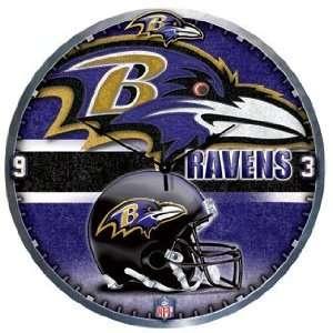 NFL Baltimore Ravens Clock   High Definition Art Deco XL Style
