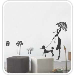 with Dog removable Vinyl Mural Art Wall Sticker Decal