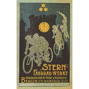 STERN BERLIN BICYCLE BIKE CYCLES SMALL VINTAGE POSTER