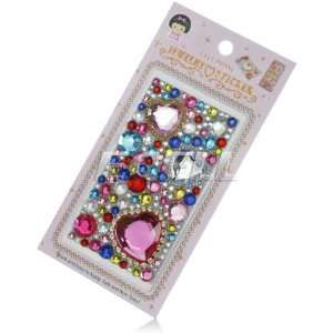 NEW PINK HEARTS RHINESTONE CRYSTAL PHONE BLING STICKER Electronics