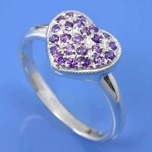 Silver Heart Ring size 9  Arts, Crafts & Sewing