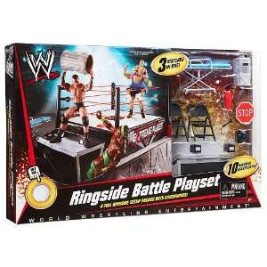 Mattel WWE Wrestling Exclusive Ring Ringside Battle 3 Matches In One