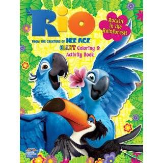 RIO Coloring & Activity Book 96 Pg ~ Journey into the wild