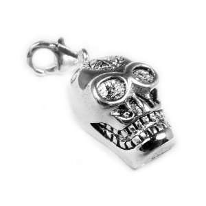 925 Sterling Silver Toned Charm Skull Jewelry