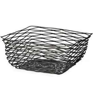 Square Artisan Black Wire Baskets   Black Powder Coat   10